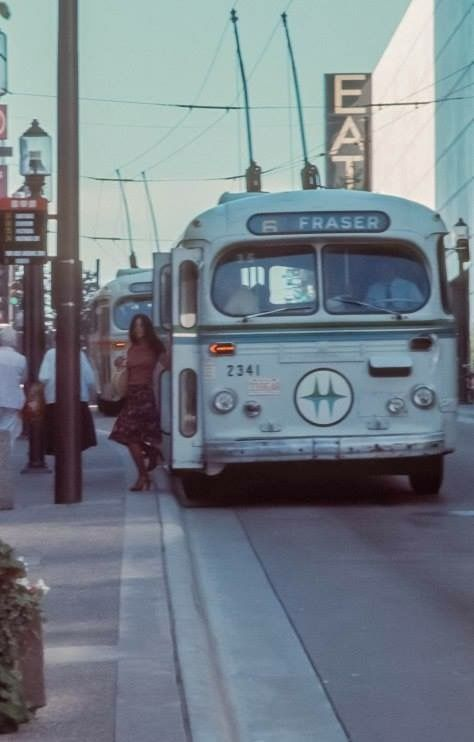 Vancouver trolley bus 1976