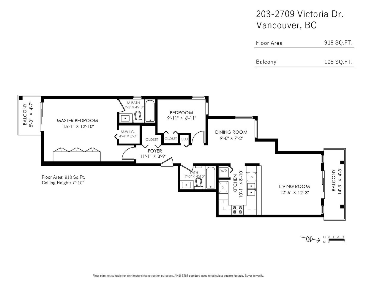 Two bedroom condo - 203-2709 Victoria Drive